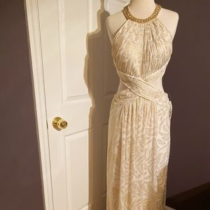 Creamy white and gold Jovani dress with tag!!